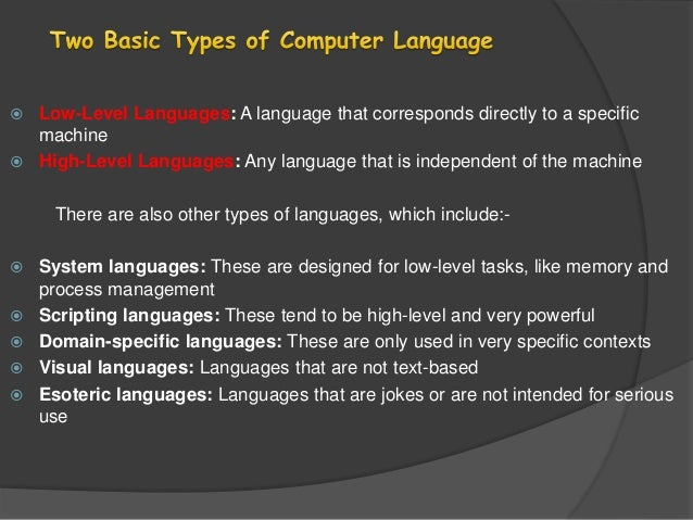 what is high level language with example