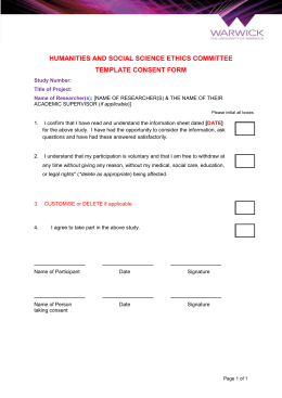 informed consent social work example