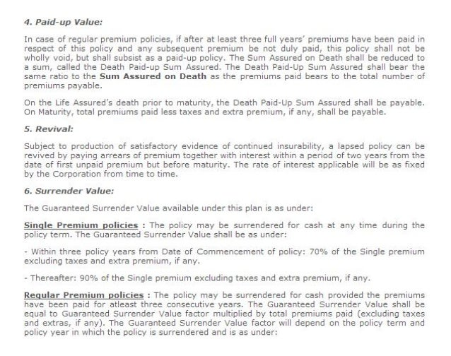 jeevan tarang policy details with example
