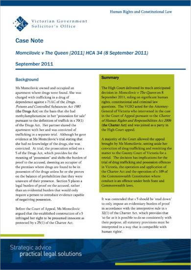 case note example law uk