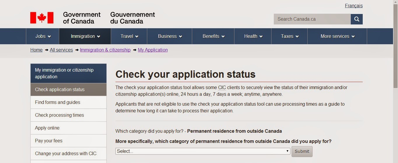 canada visa tracking number example