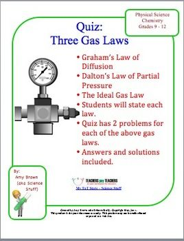 combined gas law example in real life