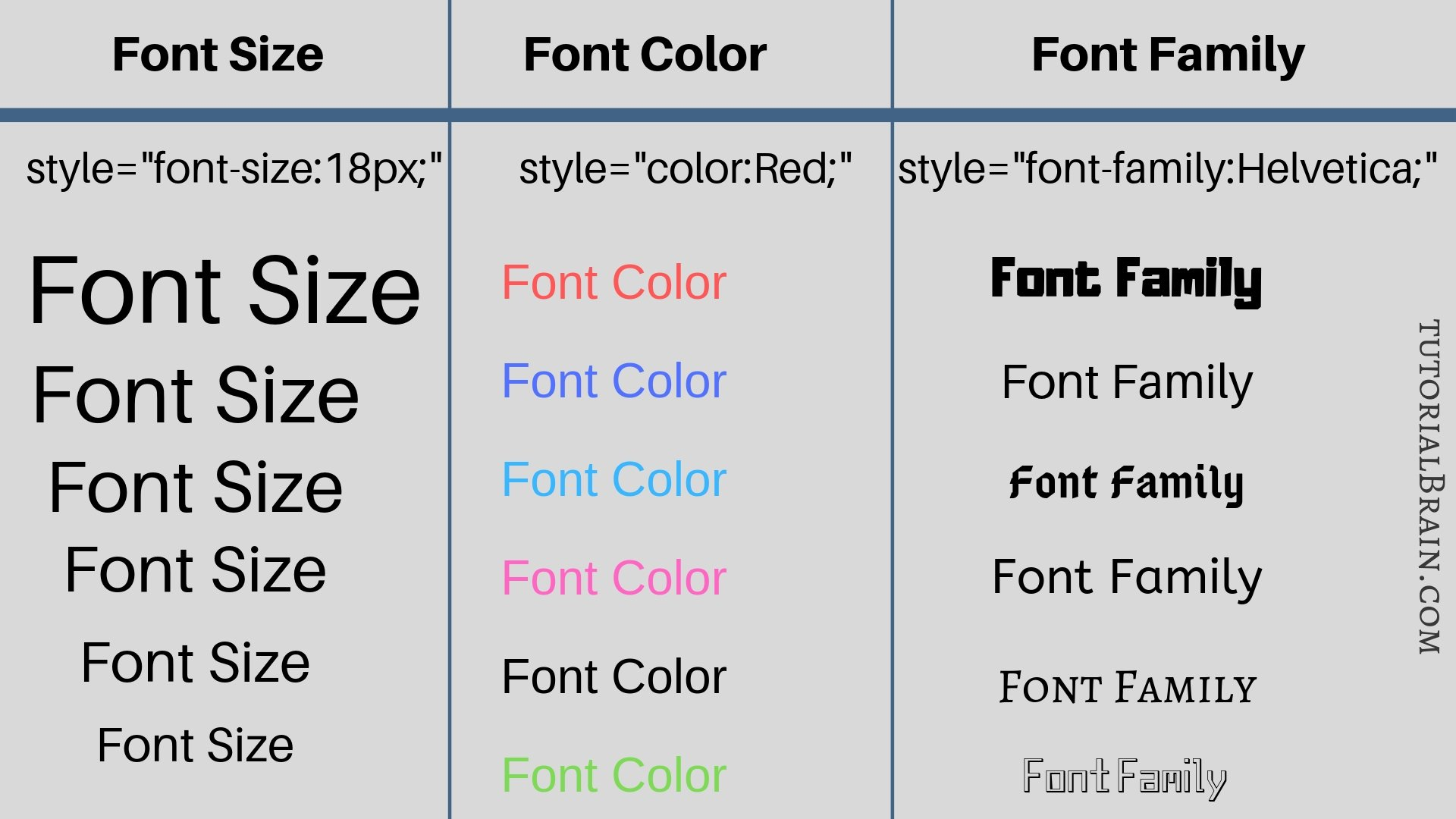 html font color css example