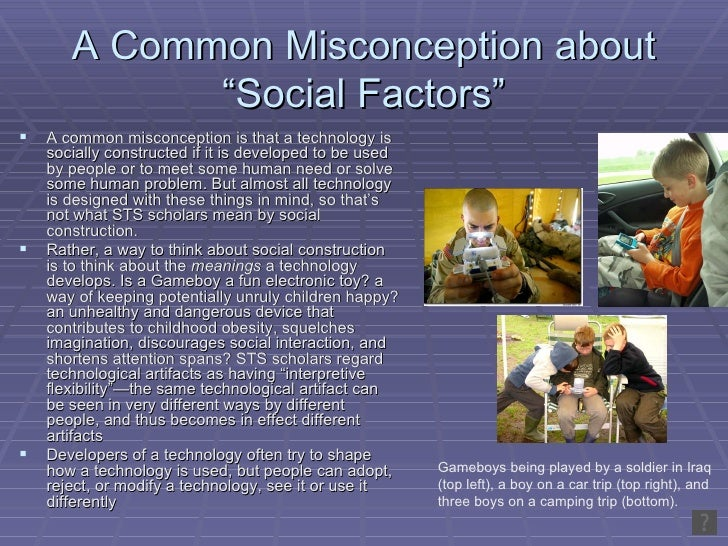 example of technological determinism and social constructionism