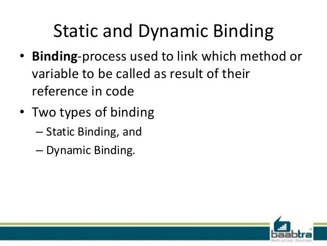 binding in java with example