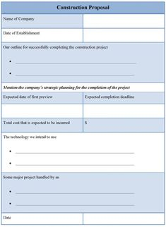 electrical contractor proposal form example