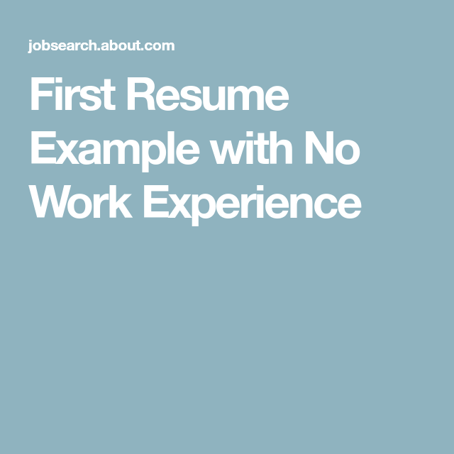 first time resume no experience example