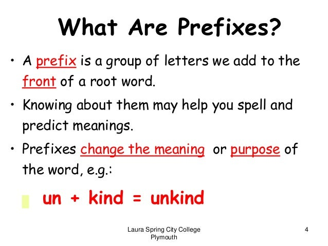 what is a suffix example