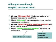the expression in spite of is an example of a