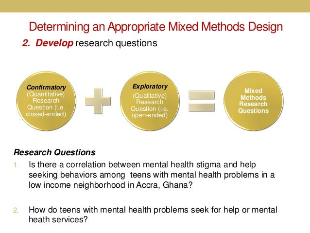 mixed method research design example