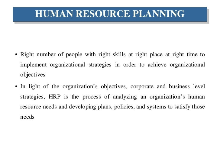 example of markov analysis in human resource planning