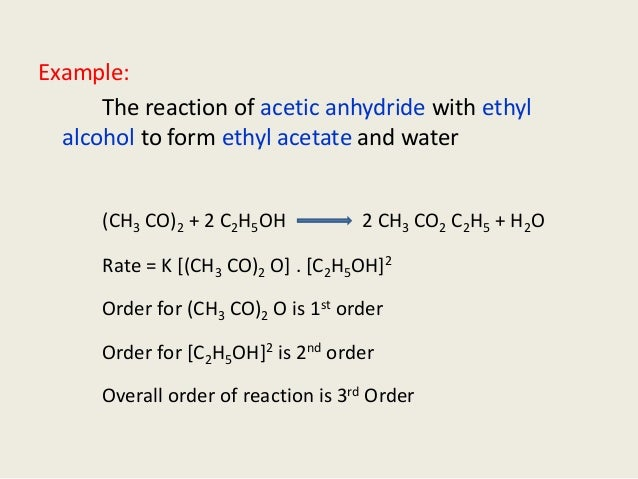 example of 1st order reaction