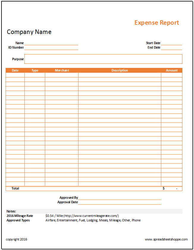 income and expense report example