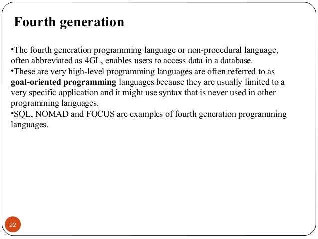 an example of a first-generation language is ________