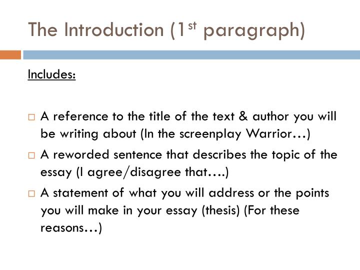 series of paragraphs expressing an opinion example