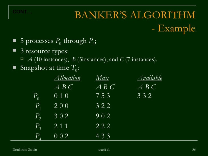 banker algorithm in operating system with example ppt