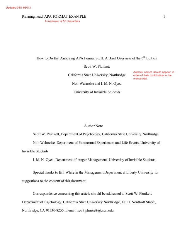 an example of a research paper written in apa format
