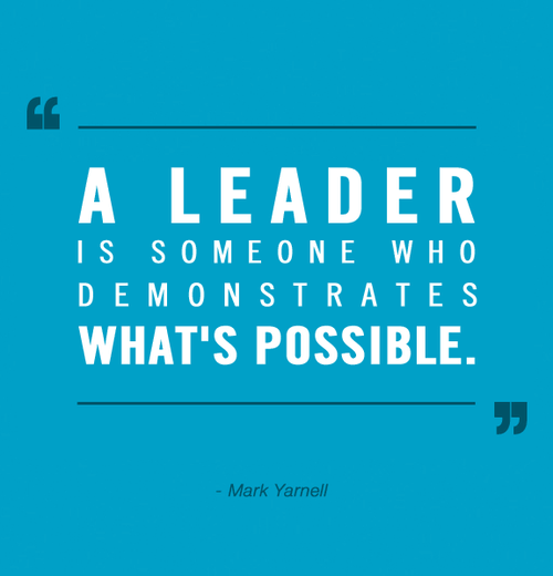 a great leader leads by example