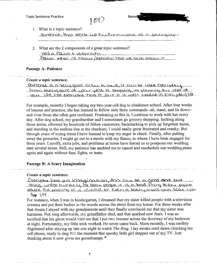 example of introductory paragraph developmental and transitional