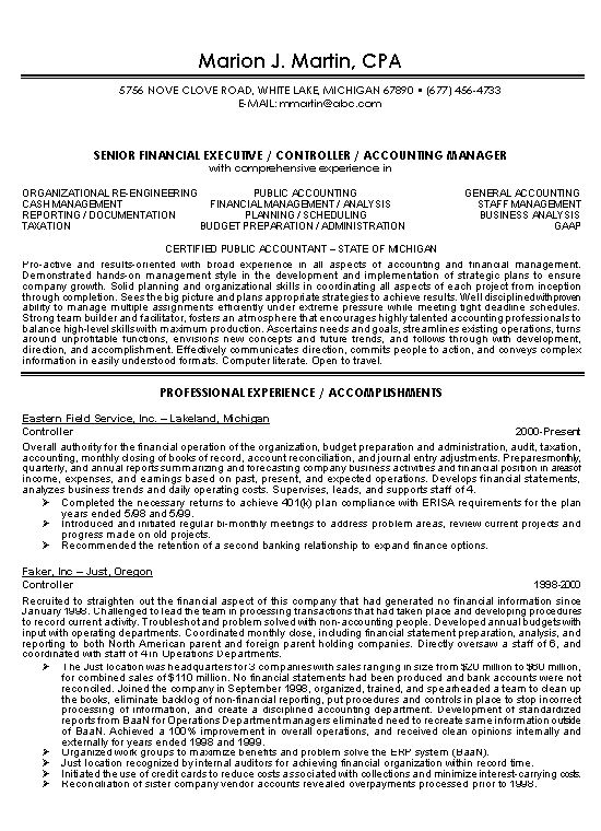 example of skills for professional resume