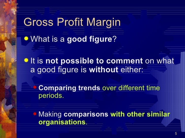 gross profit margin ratio analysis example