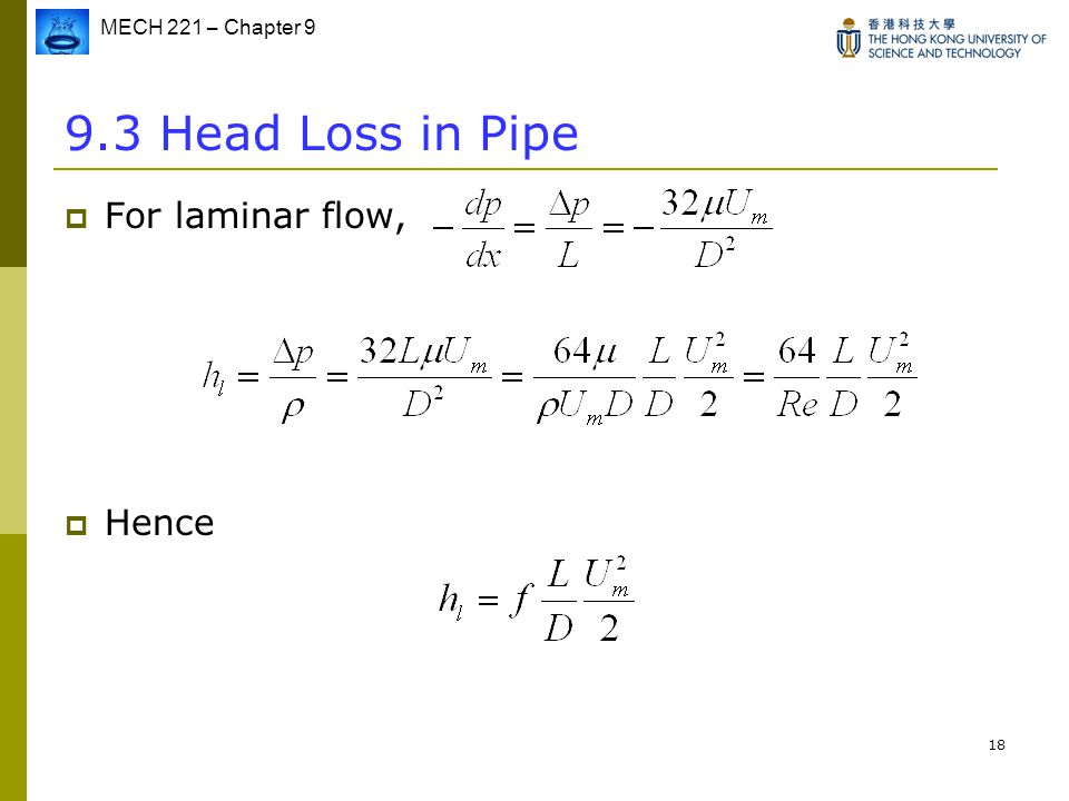 head loss in pipe example pdf