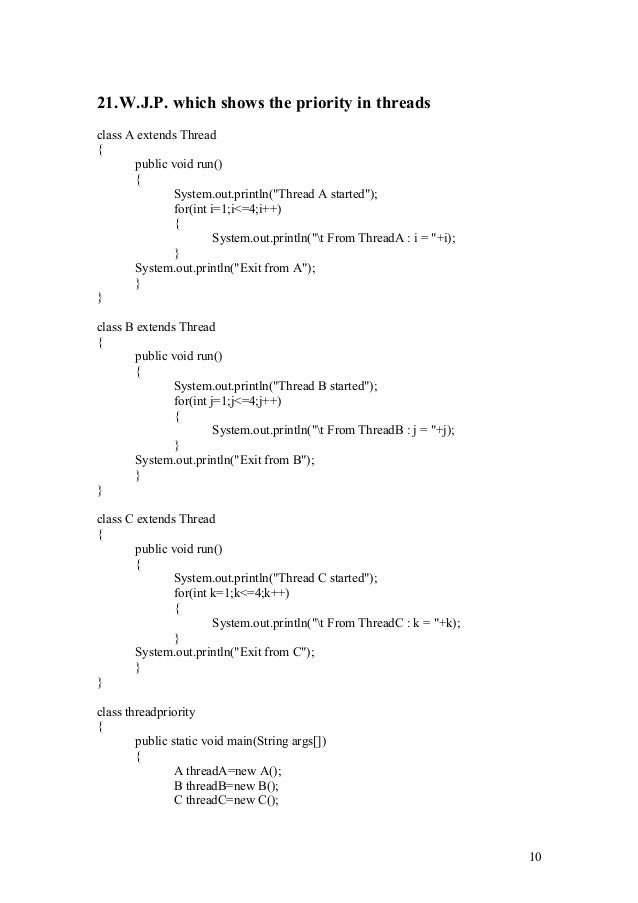 practical example of multithreading in java