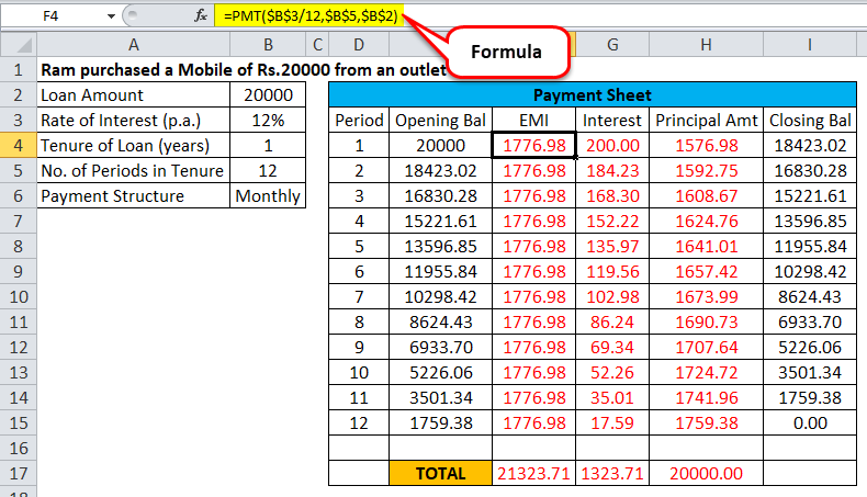 rate of interest calculator in excel example
