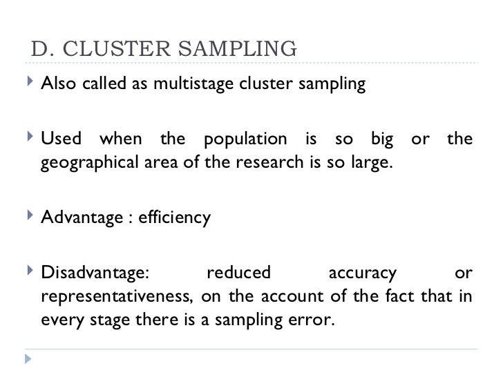 what is an example of cluster sampling